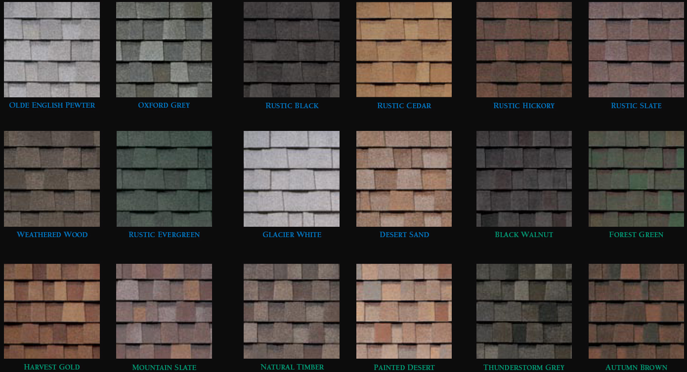 Tamko tamko architectural shingle colors for Roof color